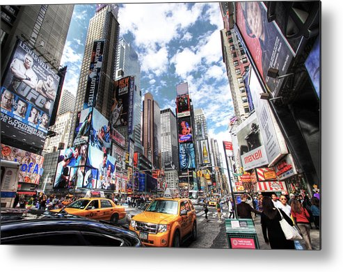 Times Square Metal Print featuring the photograph Times Square by Kean Poh Chua