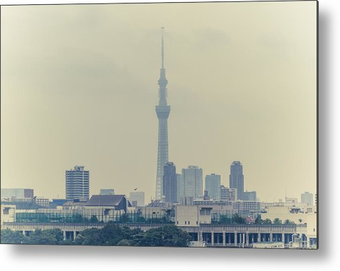Horizontal Metal Print featuring the photograph Tokyo Skytree by Gregory Ferguson