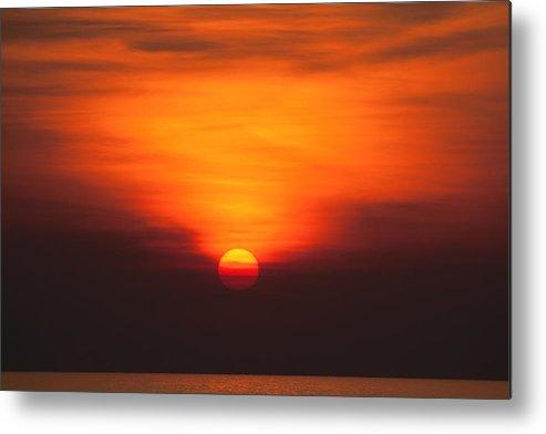 Sunset Metal Print featuring the photograph Tropical Sun V3 by Douglas Barnard
