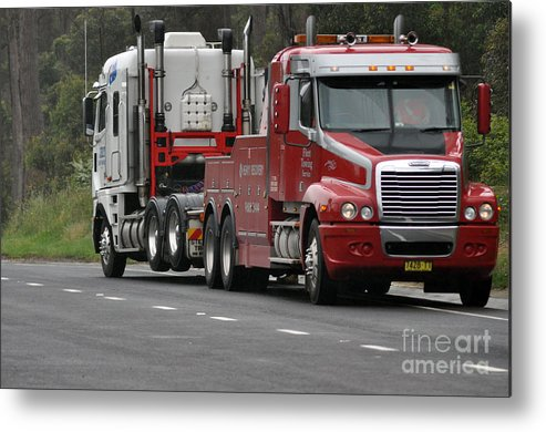 Truck Metal Print featuring the photograph Truck Tow by Joanne Kocwin
