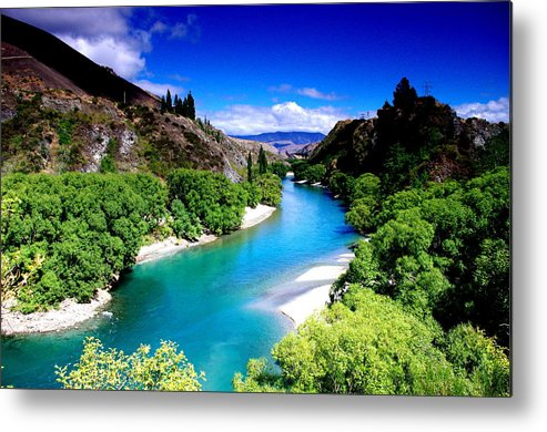 Horizontal Metal Print featuring the photograph Turquoise River by Photo by Saara Ansari