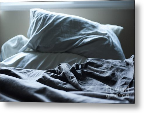 A.m Metal Print featuring the photograph Unmade Bed by Sam Bloomberg-rissman