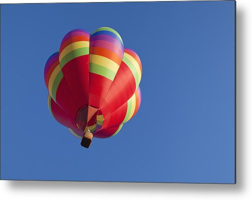 Horizontal Metal Print featuring the photograph Usa, Oregon, Tigard, Flying Balloon by Bryan Mullennix