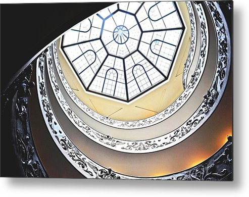 Vatican Metal Print featuring the digital art Vatican Staircase by Heather Marshall