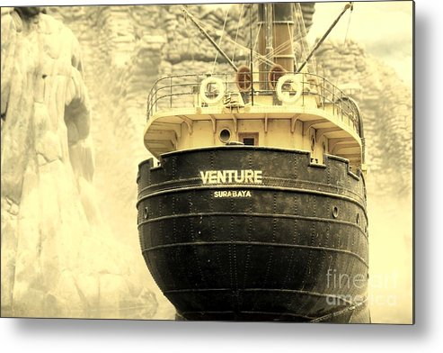 Ship Metal Print featuring the photograph Venture by Sophie Vigneault