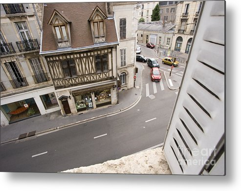 France Metal Print featuring the pyrography View From Window  by Igor Kislev