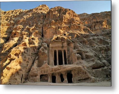 Horizontal Metal Print featuring the photograph View Of Pequeña Petra by Molina