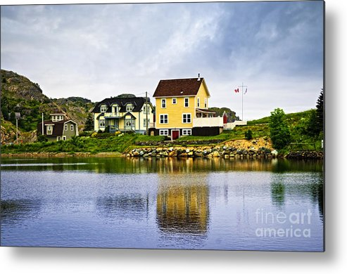 Fishing Metal Print featuring the photograph Village In Newfoundland by Elena Elisseeva