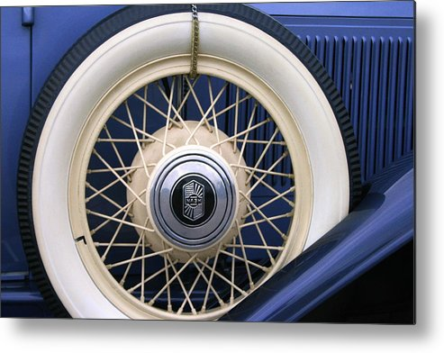 Vintage Metal Print featuring the photograph Vintage Nash Tire by Kay Novy