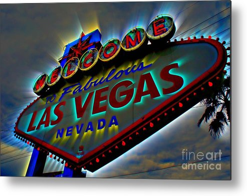 Las Vegas Metal Print featuring the photograph Welcome To Las Vegas by Kevin Moore