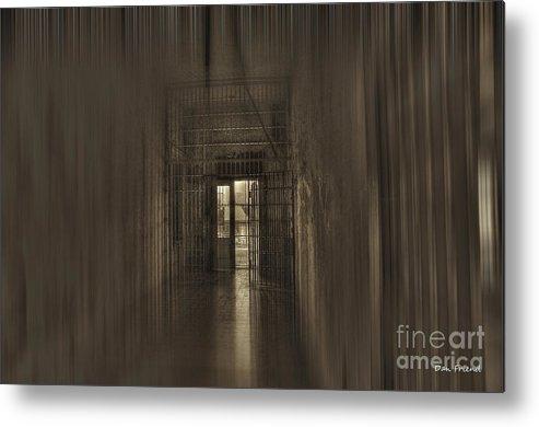 West Virginia Penitentiary Metal Print featuring the photograph West Virginia Penitentiary Hallway Out by Dan Friend