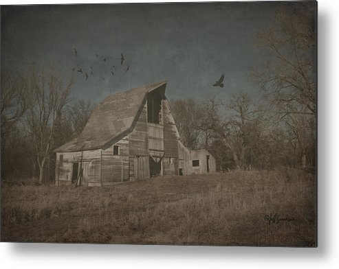 Farm Metal Print featuring the photograph White Barn by Jeff Swanson