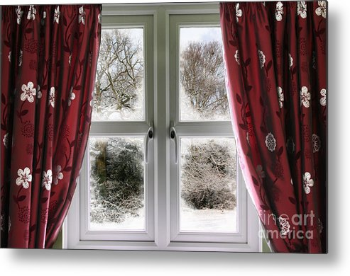 Window Metal Print featuring the photograph Window View To A Snow Scene by Simon Bratt Photography LRPS