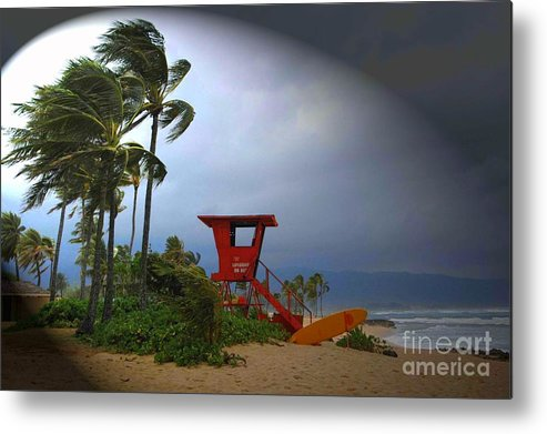 Hawaii Metal Print featuring the photograph Windy Day In Haleiwa by Mark Gilman