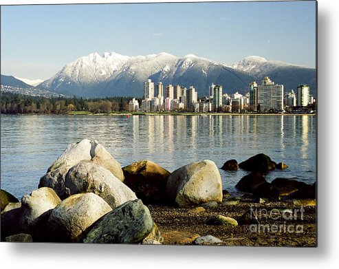 City Metal Print featuring the photograph Winter Cityscape by Frank Townsley
