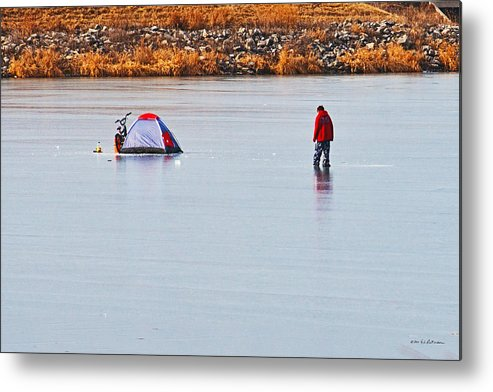Winter Scene Metal Print featuring the photograph Winter Fun by Edward Peterson