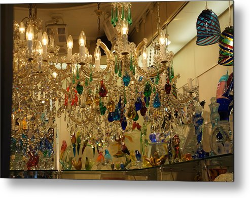 Glass Metal Print featuring the photograph World Of Glass In Venice by Cyndi Cates