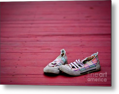Shoes Metal Print featuring the photograph Worn Travels by Matthew Trudeau