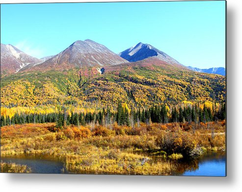 Doug Lloyd Metal Print featuring the photograph Wrangell Mountains Colors by Doug Lloyd