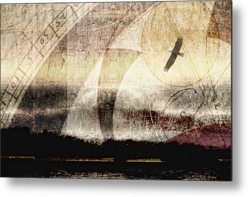 Eagle Metal Print featuring the photograph Yachats Eagle by Carol Leigh