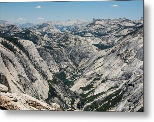 Horizontal Metal Print featuring the photograph Yosemite Valley, View From Half Dome by Alex E. Proimos
