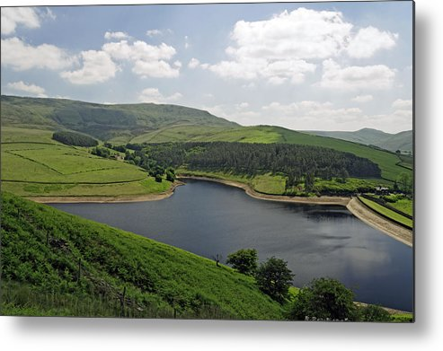 Britain Metal Print featuring the photograph Kinder Reservoir From White Brow by Rod Johnson