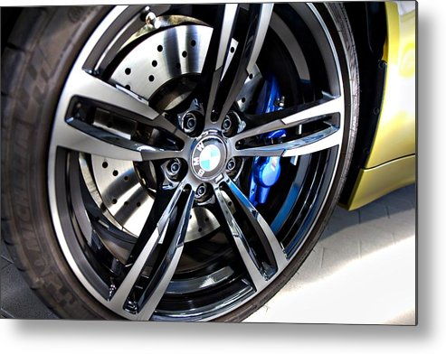 Bmw M4 Metal Print featuring the photograph 2015 Bmw M4 by Aaron Berg