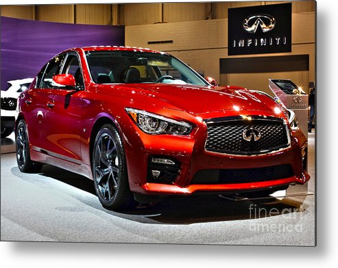 Auto Metal Print featuring the photograph 2015 Infiniti Q50 by Alan Look