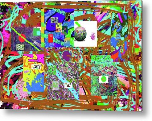 Walter Paul Bebirian Metal Print featuring the digital art 1-3-2016babcdefghijklmno by Walter Paul Bebirian