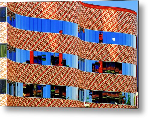 Facade Metal Print featuring the photograph Abstract Reflections In Glass Tucson Arizona by Christine Till