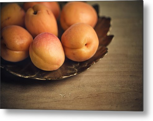 Apricot Metal Print featuring the photograph Apricots by Nailia Schwarz