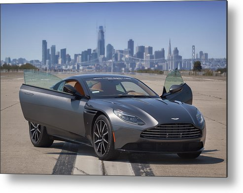 Aston Metal Print featuring the photograph #astonmartin #db11 #print by ItzKirb Photography