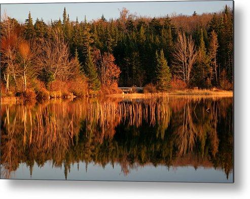 Adirondacks Metal Print featuring the photograph Autumn Lake by Kate Leikin