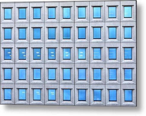 House Metal Print featuring the photograph Blue Windows by Joana Kruse