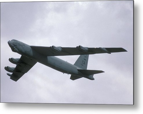 Airplane Metal Print featuring the photograph Boeing B-52g Stratofortress 59-2565 93rd Bomb Wing Castle Afb September 17 1992 by Brian Lockett