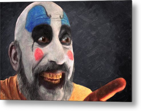 Captain Spaulding Metal Print featuring the painting Captain Spaulding by Zapista Zapista