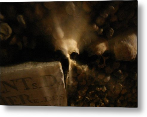 Metal Print featuring the photograph Catacombs Paris France by Jennifer McDuffie