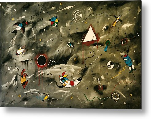 Modern Metal Print featuring the painting Cultures by Arnold Isbister
