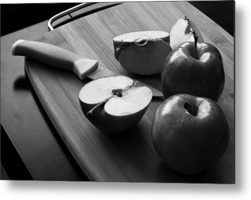 Food Photography Metal Print featuring the photograph Cutting Apples by Eric Ziegler