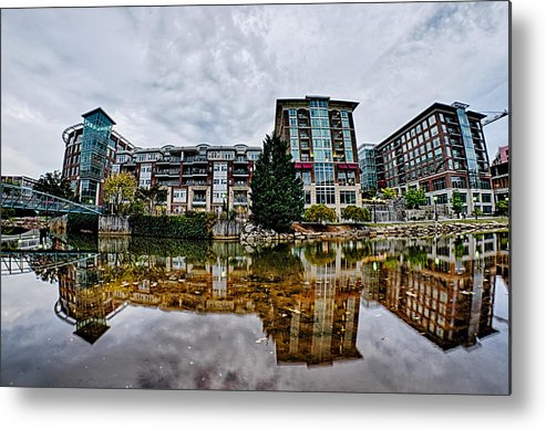 Downtown Metal Print featuring the photograph Downtown Of Greenville South Carolina Around Falls Park by Alex Grichenko