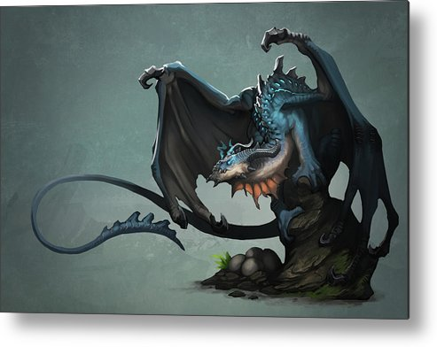 Dragon Metal Print featuring the digital art Dragon by Dorothy Binder