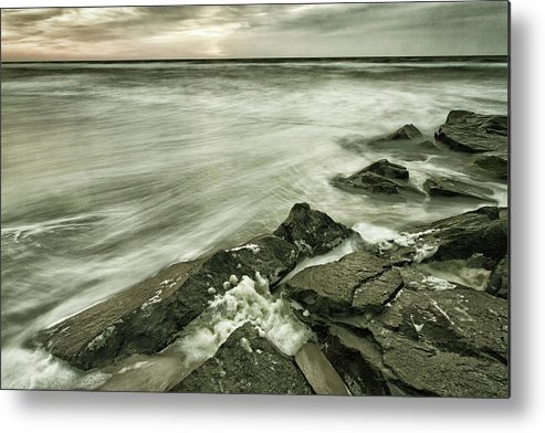 Waves Metal Print featuring the photograph Dreamy Waves by Roland Hall