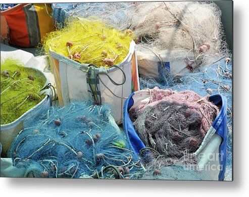 Fishing Metal Print featuring the photograph Fishing Industry In Limmasol by Shay Levy