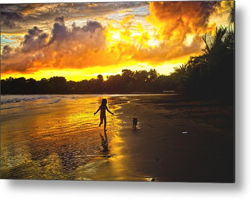 Landscape Metal Print featuring the photograph Follow Me by Iris Greenwell