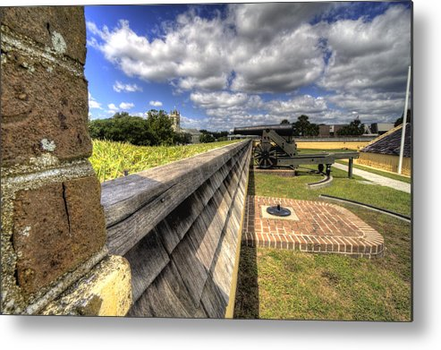 Fort Metal Print featuring the photograph Fort Moultrie Cannon by Dustin K Ryan