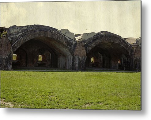 Fort Metal Print featuring the photograph Fort Pickens Arches by Laurie Perry