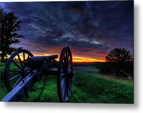 Gettysburg Metal Print featuring the photograph Gettysburg East Cemetery Hill Sunrise by Craig Fildes