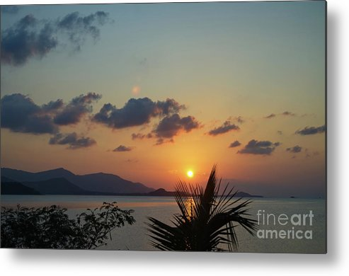Michelle Meenawong Metal Print featuring the photograph Glowing Horizon by Michelle Meenawong