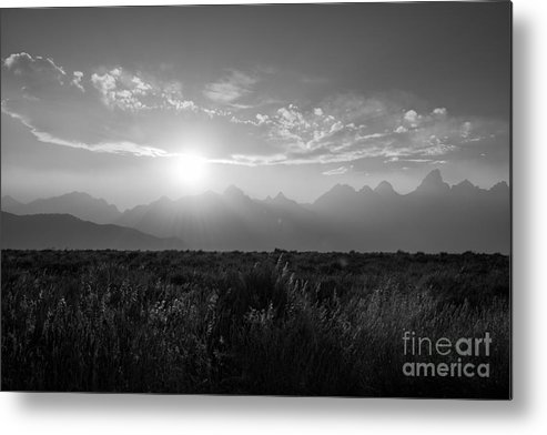 Grand Teton Metal Print featuring the photograph Grand Teton Hazy Sunset by Michael Ver Sprill
