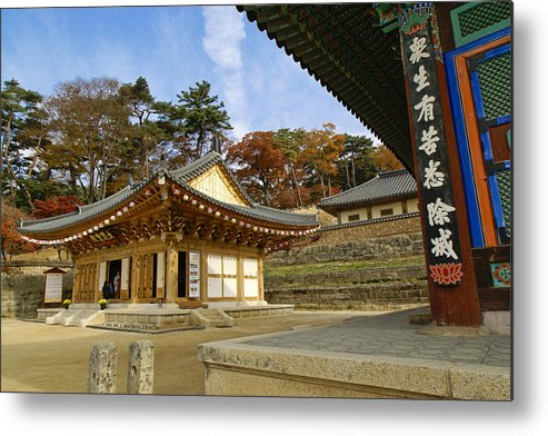 Buddhist Metal Print featuring the photograph Haeinsa Buddhist Temple by Michele Burgess